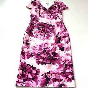 Jaclyn smith floral pink purple dress small